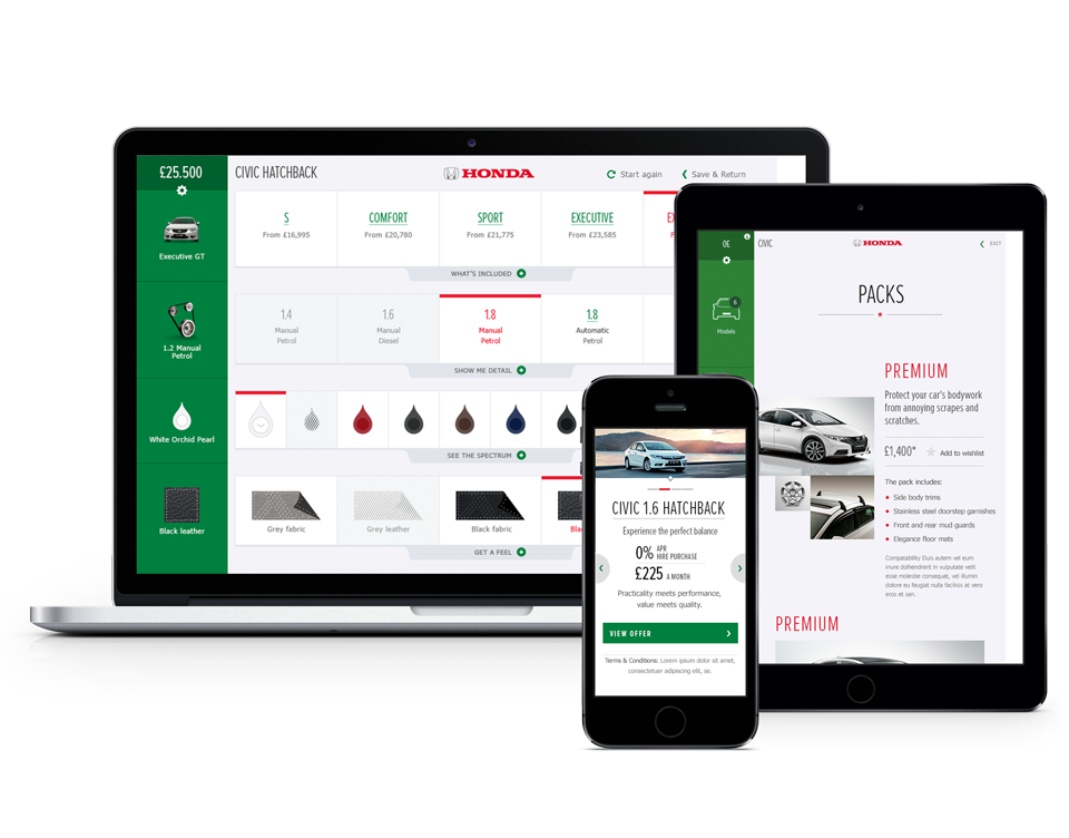Honda web app matt bullock for Honda car app